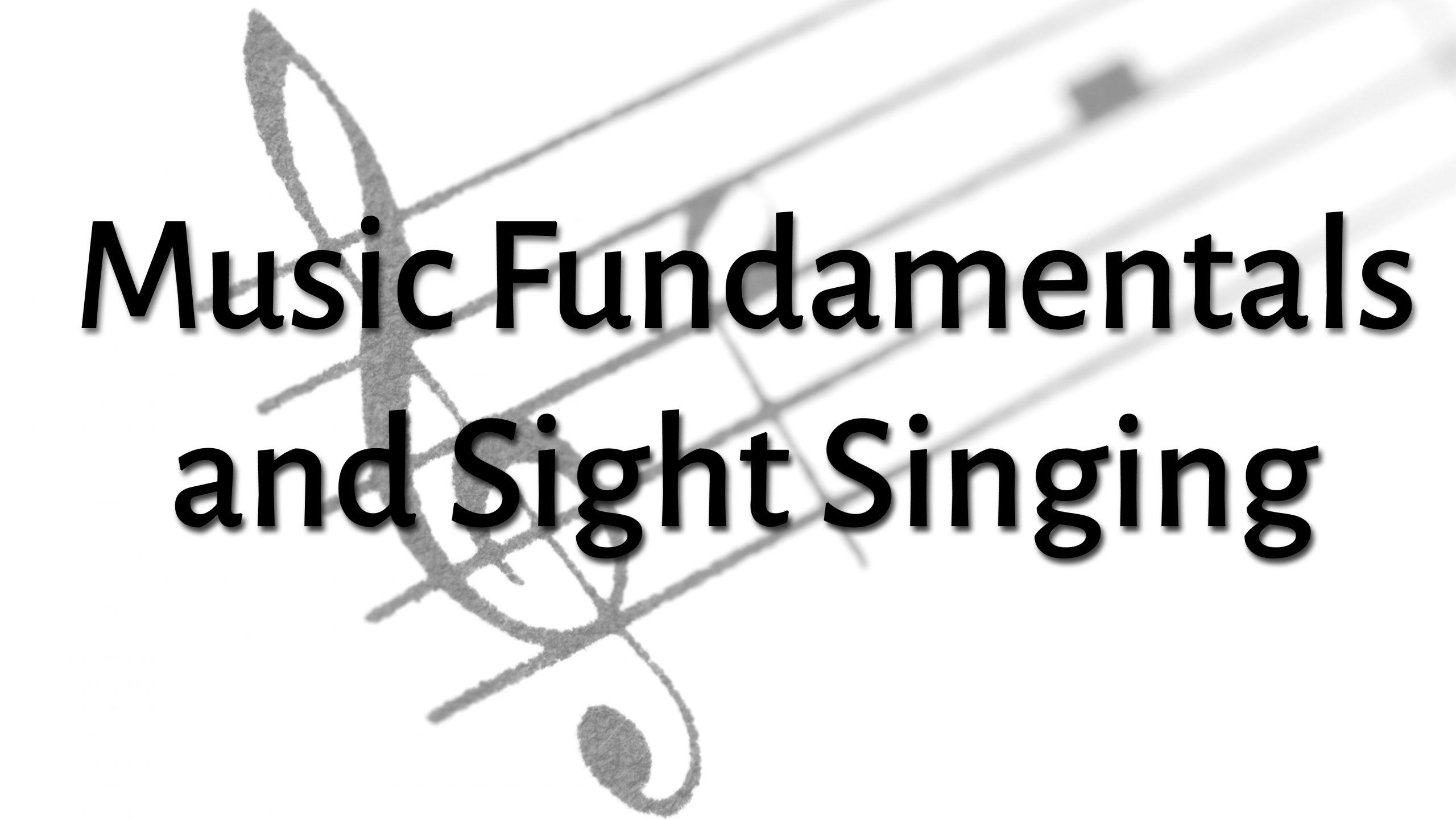 Online Music Classes - Musica Fundamentals/Sight Singing
